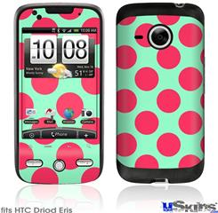 HTC Droid Eris Skin - Kearas Polka Dots Pink And Blue