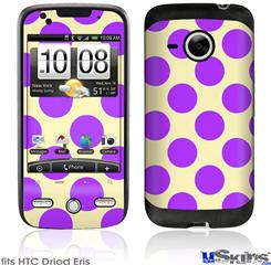 HTC Droid Eris Skin - Kearas Polka Dots Purple On Cream
