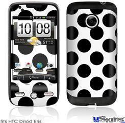 HTC Droid Eris Skin - Kearas Polka Dots White And Black