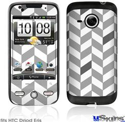 HTC Droid Eris Skin - Chevrons Gray And Charcoal