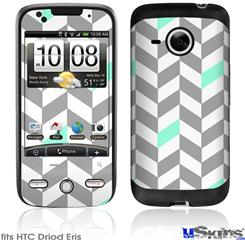 HTC Droid Eris Skin - Chevrons Gray And Seafoam
