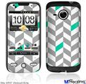 HTC Droid Eris Skin - Chevrons Gray And Turquoise