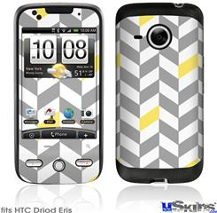 HTC Droid Eris Skin - Chevrons Gray And Yellow