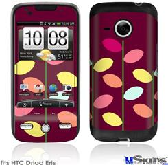 HTC Droid Eris Skin - Plain Leaves On Burgundy