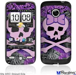 HTC Droid Eris Skin - Purple Girly Skull