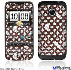 HTC Droid Eris Skin - Locknodes 01 Red Dark