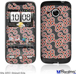 HTC Droid Eris Skin - Locknodes 02 Red Dark