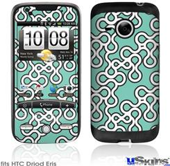 HTC Droid Eris Skin - Locknodes 03 Seafoam Green