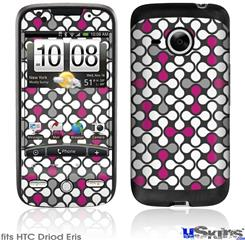HTC Droid Eris Skin - Locknodes 05 Hot Pink (Fuchsia)