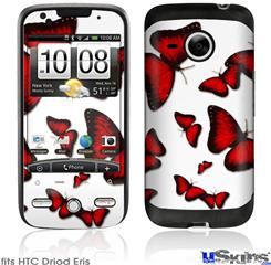 HTC Droid Eris Skin - Butterflies Red