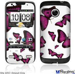 HTC Droid Eris Skin - Butterflies Purple