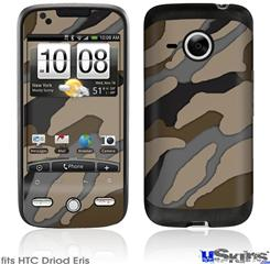 HTC Droid Eris Skin - Camouflage Brown
