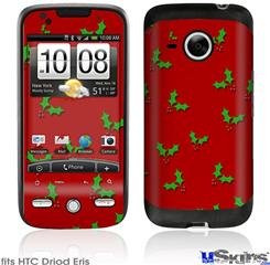 HTC Droid Eris Skin - Holly Leaves on Red