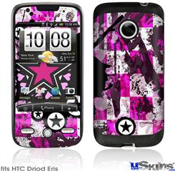 HTC Droid Eris Skin - Pink Star Splatter