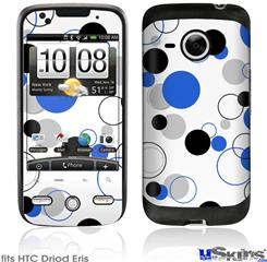 HTC Droid Eris Skin - Lots of Dots Blue on White