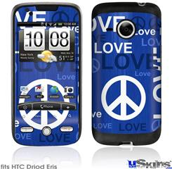 HTC Droid Eris Skin - Love and Peace Blue