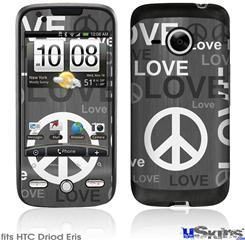 HTC Droid Eris Skin - Love and Peace Gray