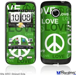 HTC Droid Eris Skin - Love and Peace Green