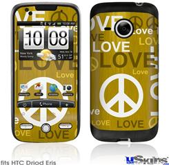 HTC Droid Eris Skin - Love and Peace Yellow