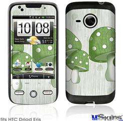 HTC Droid Eris Skin - Mushrooms Green