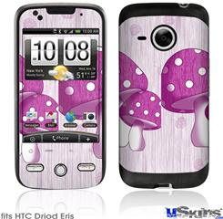 HTC Droid Eris Skin - Mushrooms Hot Pink