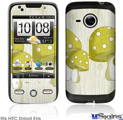 HTC Droid Eris Skin - Mushrooms Yellow