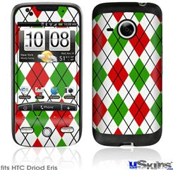 HTC Droid Eris Skin - Argyle Red and Green