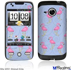 HTC Droid Eris Skin - Flamingos on Blue