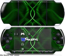 Sony PSP 3000 Skin - Abstract 01 Green