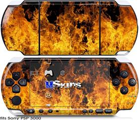 Sony PSP 3000 Skin - Open Fire