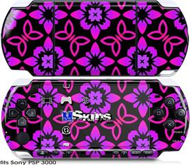 Sony PSP 3000 Skin - Pink Floral