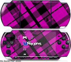 Sony PSP 3000 Skin - Pink Plaid