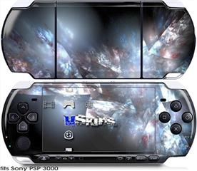 Sony PSP 3000 Skin - Coral Tesseract