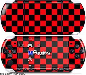 Sony PSP 3000 Skin - Checkers Red