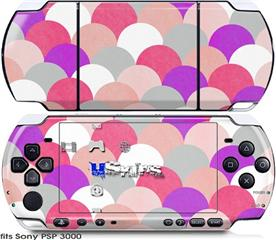 Sony PSP 3000 Skin - Brushed Circles Pink