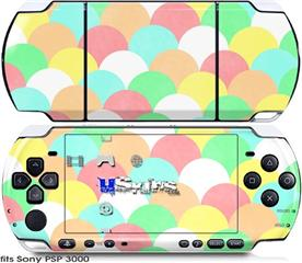 Sony PSP 3000 Skin - Brushed Cirlces Multi Light