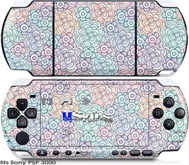 Sony PSP 3000 Skin - Flowers Pattern 08