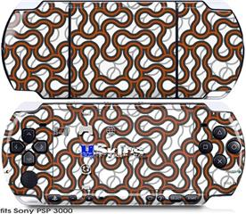 Sony PSP 3000 Skin - Locknodes 01 Burnt Orange