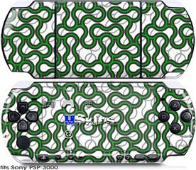 Sony PSP 3000 Skin - Locknodes 01 Green