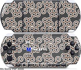 Sony PSP 3000 Skin - Locknodes 02 Chocolate Brown