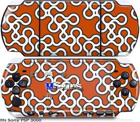 Sony PSP 3000 Skin - Locknodes 03 Burnt Orange