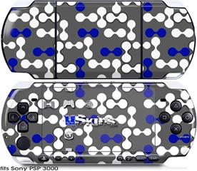 Sony PSP 3000 Skin - Locknodes 04 Royal Blue