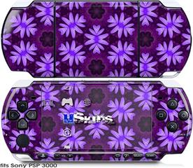 Sony PSP 3000 Skin - Abstract Floral Purple