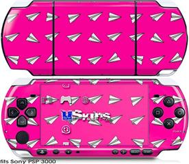 Sony PSP 3000 Skin - Paper Planes Hot Pink