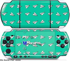 Sony PSP 3000 Skin - Paper Planes Turquoise