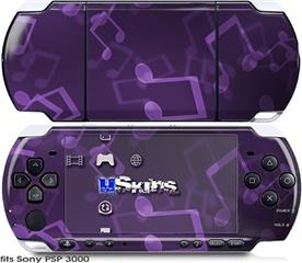 Sony PSP 3000 Skin - Bokeh Music Purple