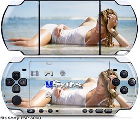Sony PSP 3000 Skin - Kayla DeLancey White Dress 60