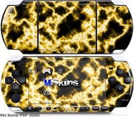 Sony PSP 3000 Skin - Electrify Yellow