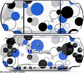 Sony PSP 3000 Skin - Lots of Dots Blue on White