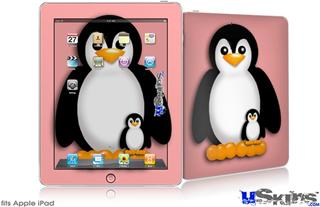 iPad Skin - Penguins on Pink